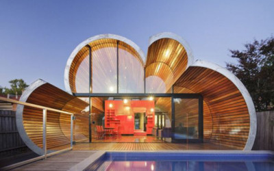 Innowacyjny dom w kształcie chmury