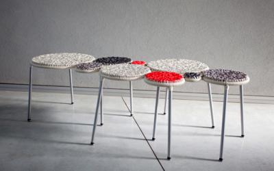 Kolorowa ławka by Neil Nenner