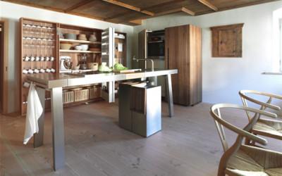 Kuchnia z drewnianym akcentem...