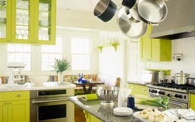 Kuchnie z dodatkiem zieleni