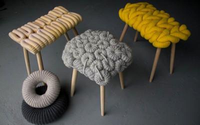 Meble... wydziergane na drutach