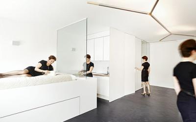 Mieszkanie lśniące czystą bielą