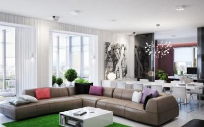 Nowoczesny apartament według ukraińskiego projektu