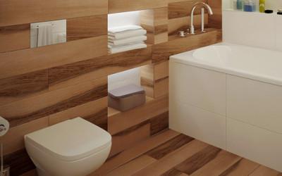 Piękna łazienka wykonana w stylu skandynawskim
