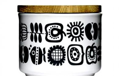Pojemnik ceramiczny z dębową pokrywką 0,5 l Sagaform Keep