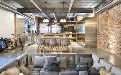 Przemysłowy loft pełen świeżości i stylu