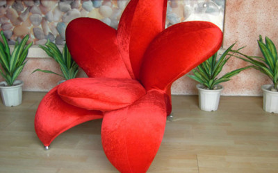 Red Flower Chair