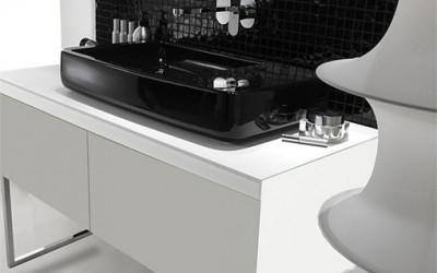 Stylowe prostokątne umywalki