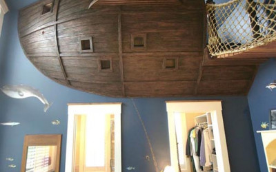 Sypialnia jak... piracki statek!