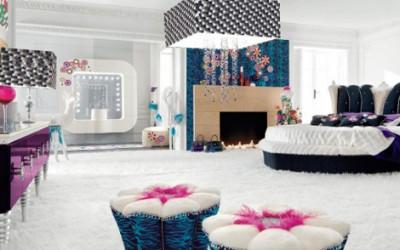 Sypialnia w stylu glamour1