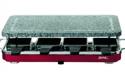 Szwajcarski grill Raclette 8 z kamienną płytą firmy SPRING 1