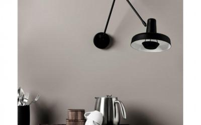 Wyjątkowa lampa ścienna Arigato do domowego wnętrza