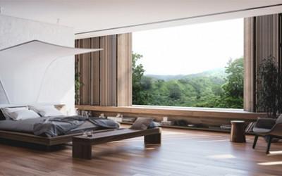 Wyrafinowana komfortowa sypialnia