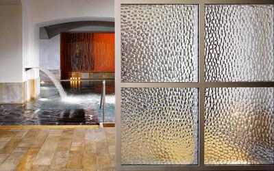 Wzorzysta panela ze szkła