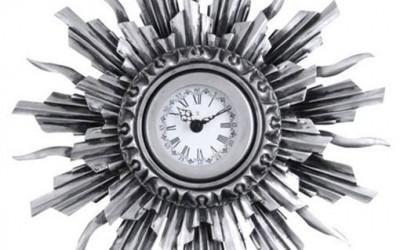 Zegar ścienny NEXTIME Sol silver