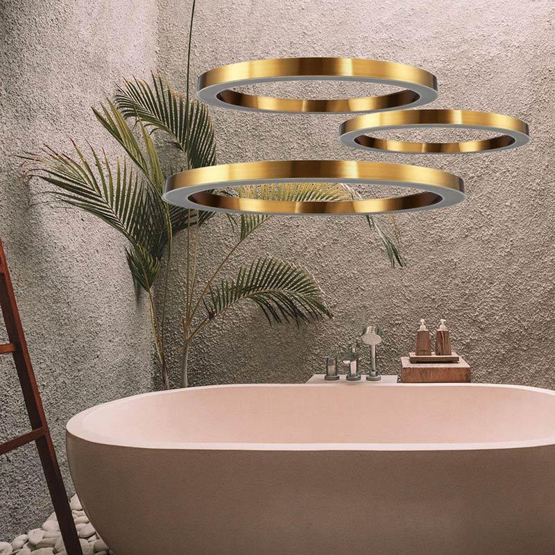 Lampy wiszące Circle do domowej łazienki