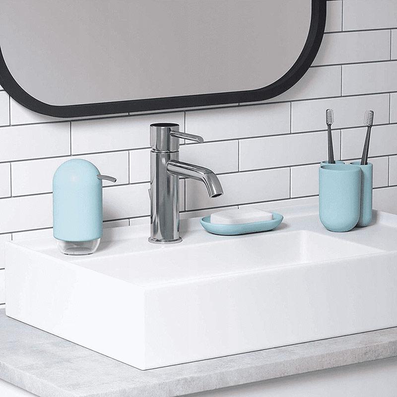 dozownik do mydła z pompką niebieski umbra touch