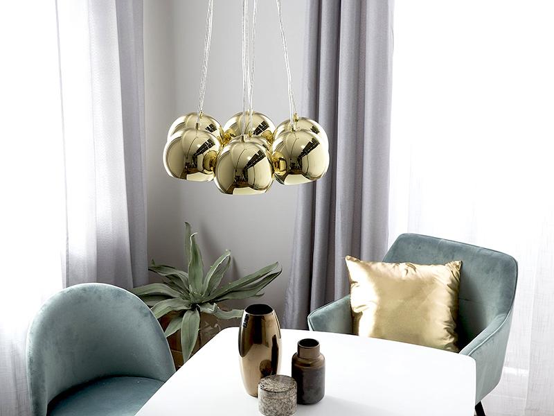 Złota lampa wisząca Agatone