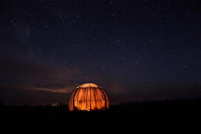 Przeźroczysty namiot Oasis